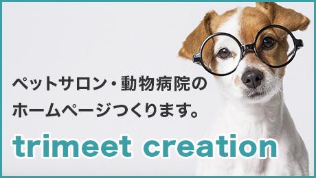 ペットサロン・動物病院のホームページ制作 | trimeet creation ペットサロンや動物病院限定のWEBサイト制作・デザイン制作