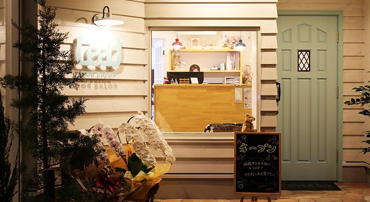 カフェ併設、白を基調としたおしゃれなサロン「LEAD」